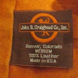 John R. Craighead Shirts & Tops - John R Craighead Vintage Cowboy Western Suede Vest